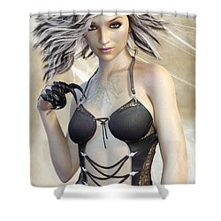 Spider Queen Shower Curtain
