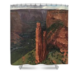 Spider Rock, Canyon De Chelly Shower Curtain