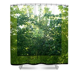 Shower Curtain featuring the photograph Spider-web Squares by Michelle Audas