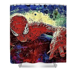 Spiderman Climbing  Shower Curtain