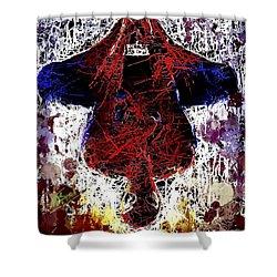 Spiderman Hanging Around Shower Curtain