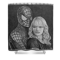 Spidey And Gwen Shower Curtain