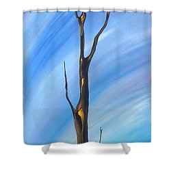 Shower Curtain featuring the painting Spike by Pat Purdy
