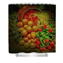 Spilled Barrel Bouquet Shower Curtain