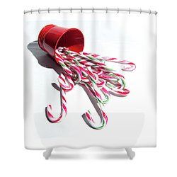 Spilled Candy Canes Shower Curtain