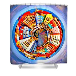 Spin City Shower Curtain by Kathy Kelly