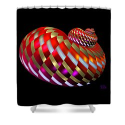 Shower Curtain featuring the digital art Spin-orbit Interaction by Manny Lorenzo