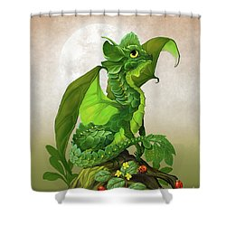 Spinach Dragon Shower Curtain