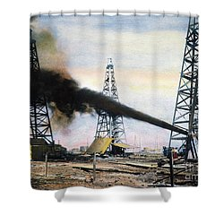 Spindletop Oil Pool, C1906 Shower Curtain