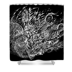 Spindrift Shower Curtain by Charles Cater