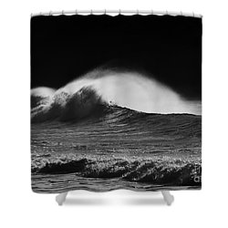 Spindrift Shower Curtain by Mike  Dawson