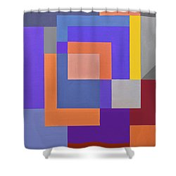 Spring 3 Abstract Composition Shower Curtain