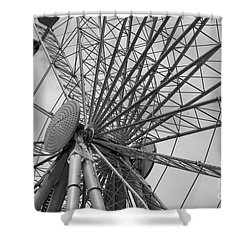 Spining Wheel  Shower Curtain by John S