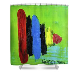 Spinner Shower Curtain