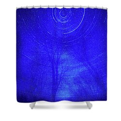 Spinning Centers Shower Curtain