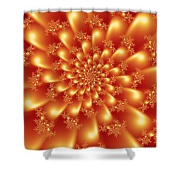 Spinning Gold Shower Curtain