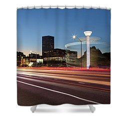 Spinning Swing Chair Carnival Rides Long Exposure Shower Curtain