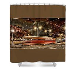Spinning Trolley Car Shower Curtain