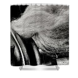 Spinning Wheel And Wool Shower Curtain