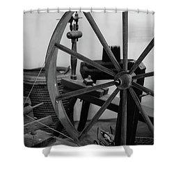 Spinning Wheel At Mount Vernon Shower Curtain