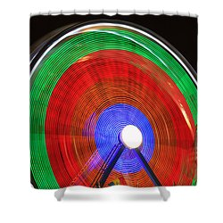 Spinning Wheels Shower Curtain by James BO  Insogna