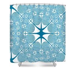 Spiral Abstract 7 Colour Choice Shower Curtain by Barbara Moignard