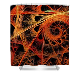 Shower Curtain featuring the digital art Spiral Abstract by Andee Design