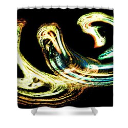 Shower Curtain featuring the photograph Spiral Activity - A Modern Fractal Image by Merton Allen