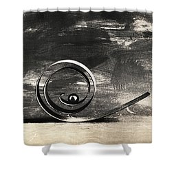 Spiral And Ball Shower Curtain by Andrey  Godyaykin