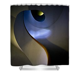 Spiral Concrete Modern Staircase Shower Curtain