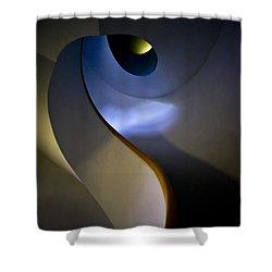 Spiral Concrete Modern Staircase Shower Curtain