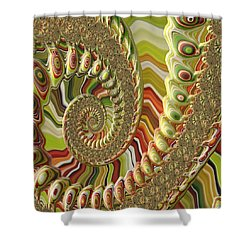 Shower Curtain featuring the photograph Spiral Fractal by Bonnie Bruno