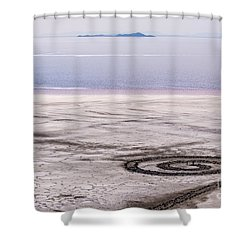 Spiral Jetty - Great Salt Lake - Utah Shower Curtain by Gary Whitton