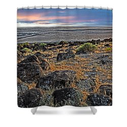 Spiral Jetty Shower Curtain