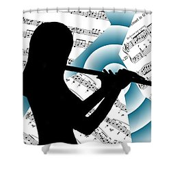 Spiral Music Shower Curtain