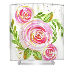Spiral Pinks  Shower Curtain