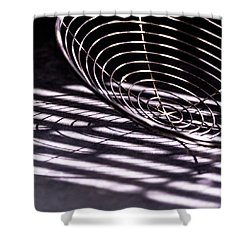Spiral Shadows Shower Curtain