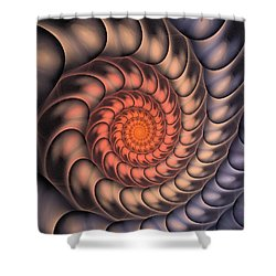 Shower Curtain featuring the digital art Spiral Shell by Anastasiya Malakhova