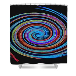 Shower Curtain featuring the photograph Spiral Spectrum No. 1 - Modern Art by Merton Allen