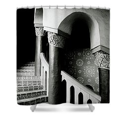 Spiral Stairs- Black And White Photo By Linda Woods Shower Curtain by Linda Woods