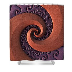Shower Curtain featuring the digital art Spiralicious by Lyle Hatch