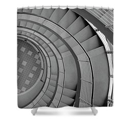 Spiraling Down  Shower Curtain by Tara Lynn