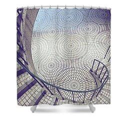Spiraling Down Shower Curtain