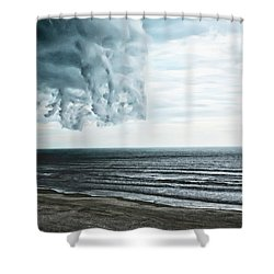 Spiraling Storm Clouds Over Daytona Beach, Florida Shower Curtain