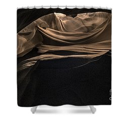 Spiraling Toward The Light Shower Curtain by William Fields