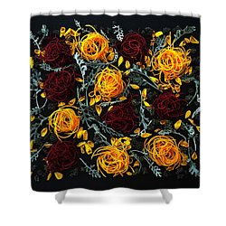 Spiralized Beets And Squash Shower Curtain