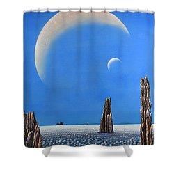 Spires Of Triton Shower Curtain