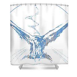 Spirit Animal . Crow Shower Curtain by John Jr Gholson
