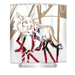 Spirit Animal . Fox Shower Curtain by John Jr Gholson