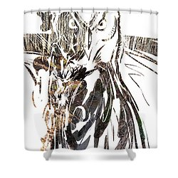 Spirit Animal . Owl Shower Curtain by John Jr Gholson